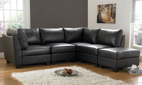 Sofa Schwarz Leder by Black Leather Corner Sofa Decorate Your Home With Black