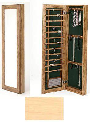 large wall mounted jewelry cabinet  lock  jewelry