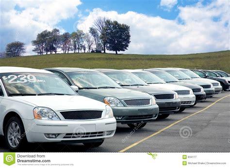 Car Dealer Lot Royalty Free Stock Photography