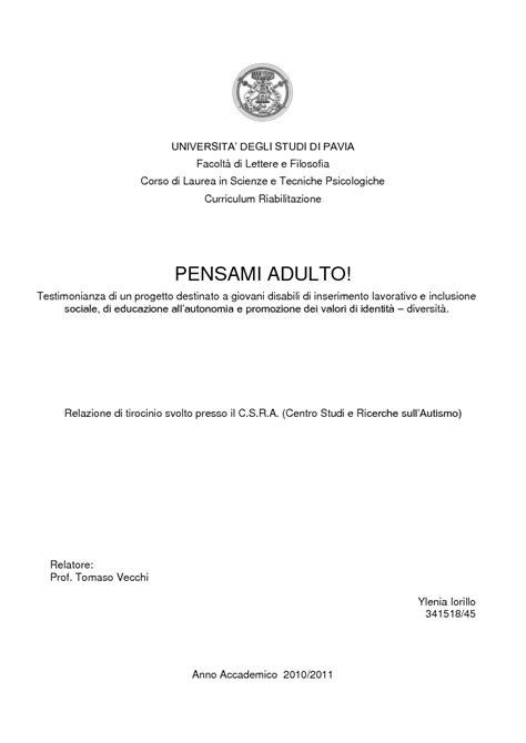 Scienze E Tecniche Psicologiche Pavia by Universita Degli Studi Di Pavia Facolt 224 Di Lettere E