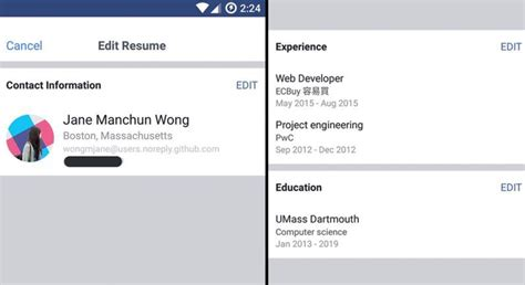 Resume Features by Work Histories Social Features Resume Feature