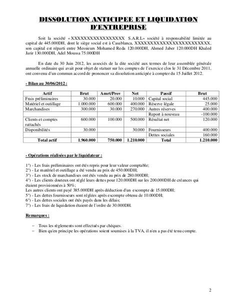 societe generale siege de la dissolution à la cloture de liquidation pdf