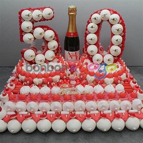 gateau anniversaire 50 ans acheter g 226 teau anniversaire de bonbons quot chiffre 50 ans