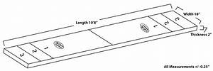 Shuffleboard Table Dimensions Diagram