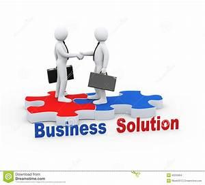 3d Business Partner On Puzzle Piece Stock Illustration ...