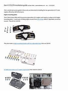 Gen V Lt1  Lt4 Installation Guide  Engine Mounting Plates