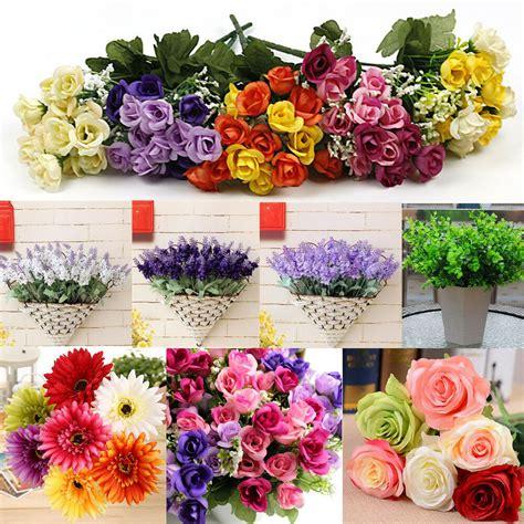 wholesale mix artificial silk flower bouquet home wedding