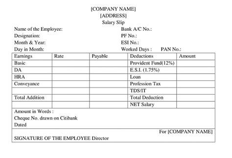 salary payslip format samplesofpaystubscom