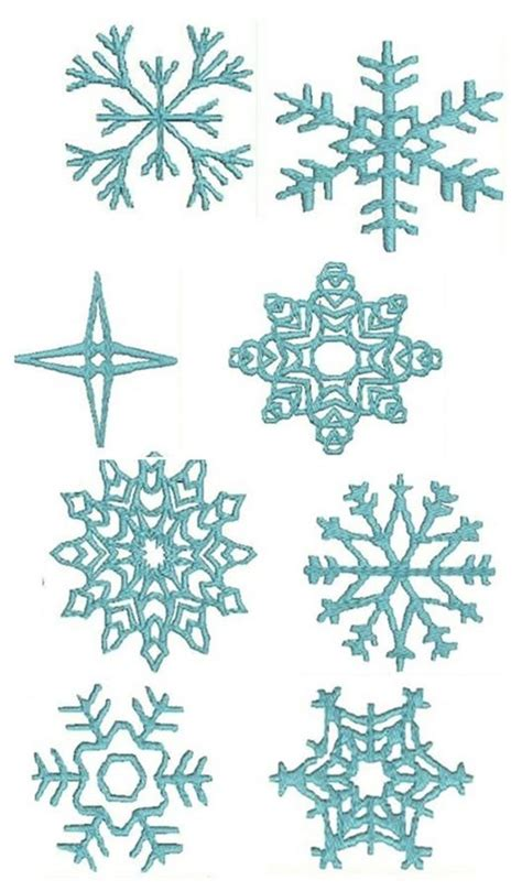 snowflakes sketches patterns templates cake