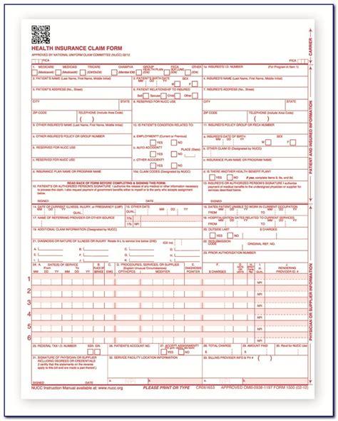 printable blank cms  claim form girlinathunderbolt