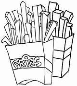 Fries Coloring French Pages sketch template