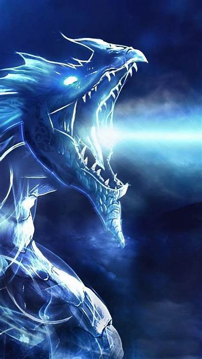Dragon Lightning Wallpapers Ice Desktop Backgrounds Night