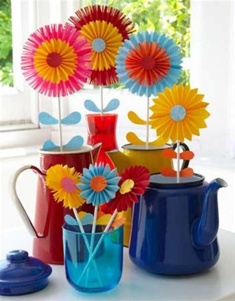 Papier Vasen Basteln Mit Liebe Bestickt by Die 25 Besten Blumen Basteln Mit Kindern Ideen Auf
