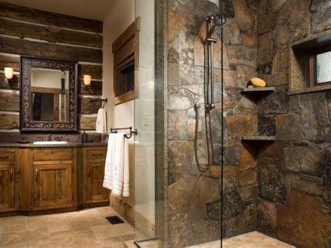 modern bath hardware log cabin bathroom decor rustic log
