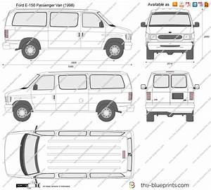 ford e 150 passenger van vector drawing With ford econoline van