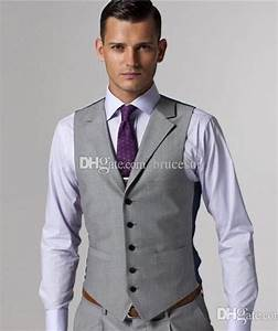 2017 Gray Wool Mens Vest And Pant Formal Suit Vest Prom ...