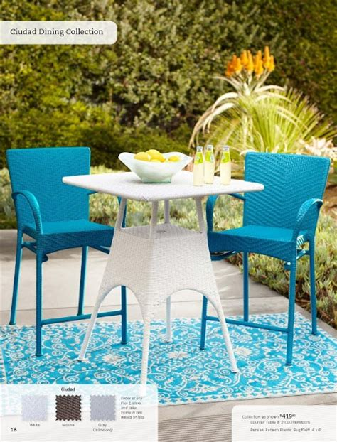 pier one bar table and chairs patio furniture