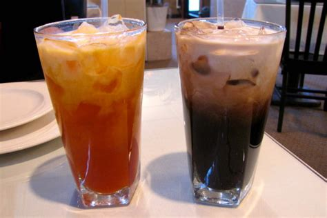 cuisine by region photo iced tea and iced coffee from malai
