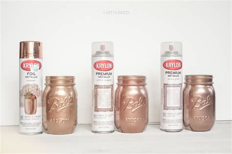 krylon white copper dusty pink and foil metallic copper