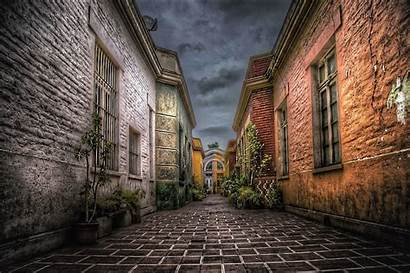 Alley Dark Clouds Background Wall Cloud Hdr