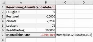 Zins Berechnen Formel : bersicht ms excel funktionen rmz ~ Themetempest.com Abrechnung