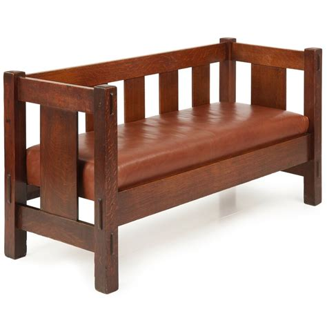 settee bench gustav stickley mission oak settee sofa bench