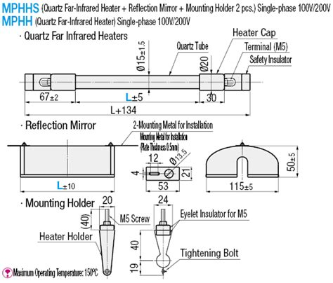 Wiring Diagram For Infrared Heater by Quartz Far Infrared Heaters Misumi Misumi Usa