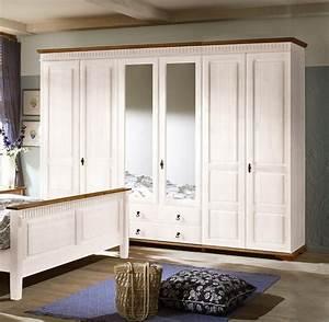 Kleiderschrank Landhausstil Ikea : sevilla kleiderschrank 90 26 schrank 6 t rig landhaus kiefer massiv weiss ebay ~ Markanthonyermac.com Haus und Dekorationen