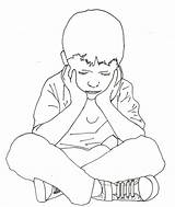Drawing Sitting Boy Yahoo Child Bench Alone Drawings Complex Children Clipart Getdrawings Coloring Sketches Seated Keg Pages Traumatic Disorder Stress sketch template