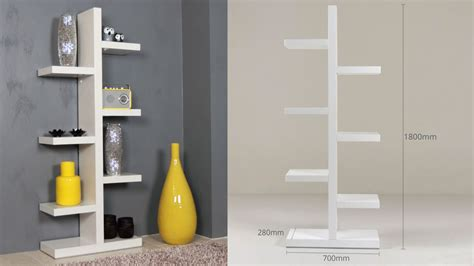 3 Foot High Bookcase by White High Gloss Bookcase Shelving Unit 6 Shelves Uk