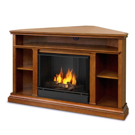 Real Flame Churchill Ventless Gel Fireplace In Oak