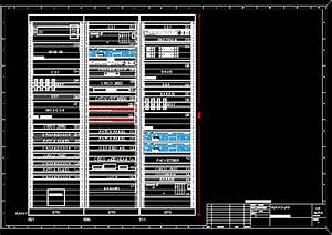 Rack Of Tele-Communications DWG Block for AutoCAD