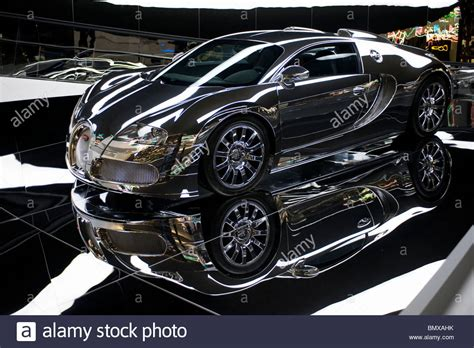 Silver Plated Bugatti Veyron On Display At Autostadt Next