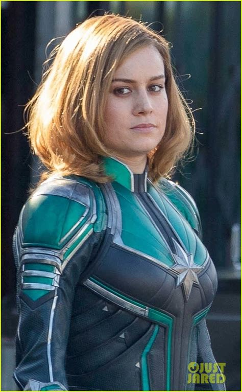 Brie Larson Gets Into Her Superhero Costume As 'captain