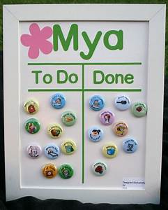 Personalized Childrens Magnetic Chore Chart for Girl or ...