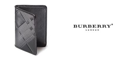 Burberry Leather Business Card Holder