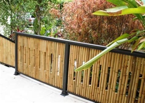 pagar cantik minimalis  bambu berkaitan  gambar