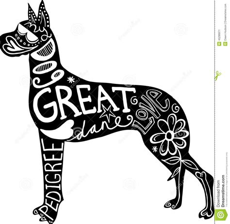 You may also like great dane harlequin or great dane head clipart! Pet Great Dane Dog Stock Illustration - Image: 45296871