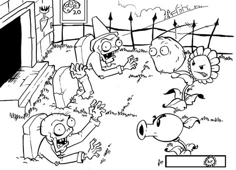 plants vs zombies coloring pages to print eskayalitim