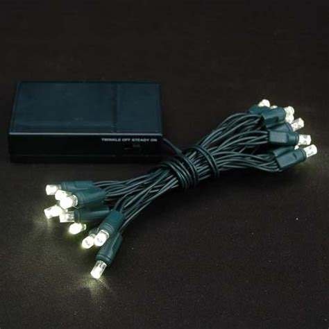 battery operated lights warm white green wire novelty