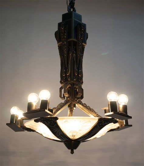 large deco chandelier for sale at 1stdibs