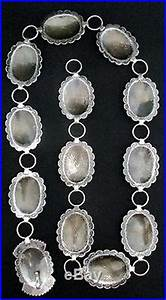 Vintage Navajo Silver Concho Belt STERLING Signed PLATERO ...