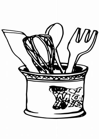 Coloring Kitchen Utensils Pages Printable