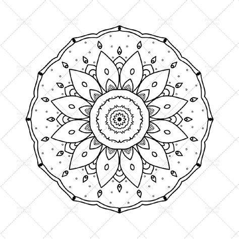 mandala disegno da colorare   scaricamento instantaneo