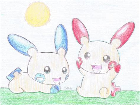 Plusle And Minun By Psychoartist1101 On Deviantart
