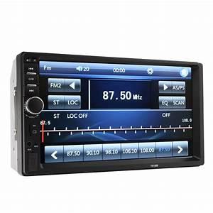 New 7018b 2 Din Car Bluetooth Audio 7 U201d Hd Radio In Dash