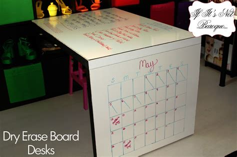 desk dry erase board if it 39 s not baroque dry erase board desks for less
