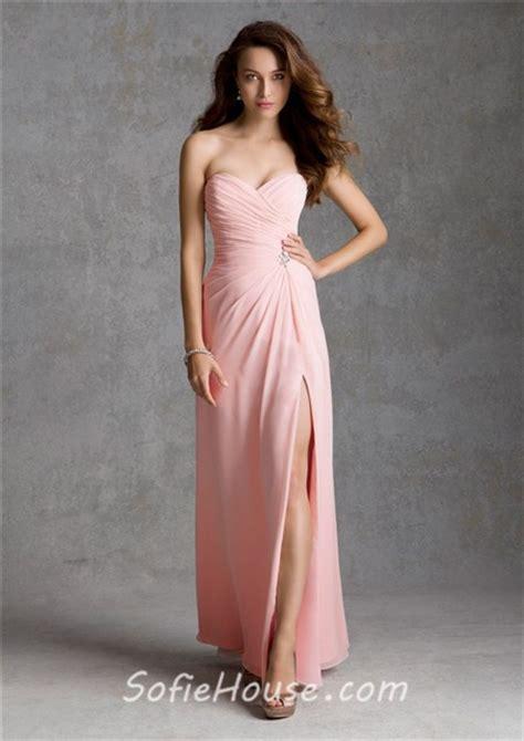 light pink dress for wedding guest sheath sweetheart strapless long light pink chiffon