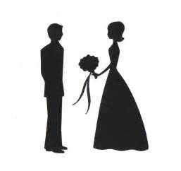 dragging groom wedding and groom silhouette die cut by
