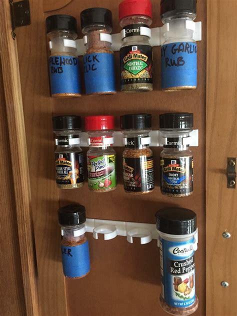 spice storage ideas    organize  rv kitchen rv inspiration